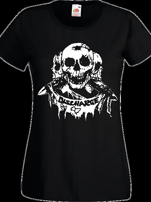 T-Shirt Lady-Fit DISCHARGE Skulls