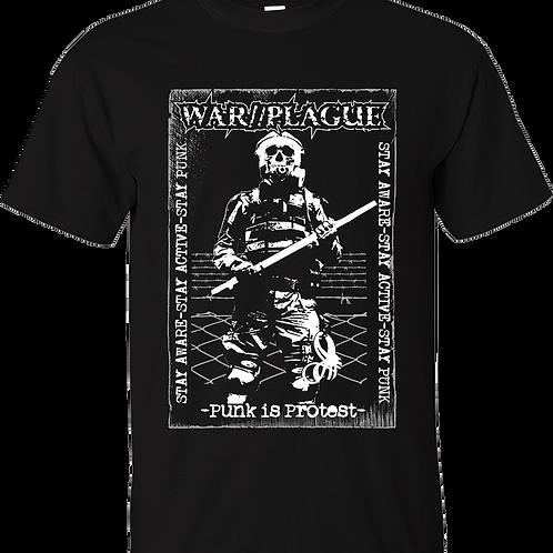 """T-Shirt WAR//PLAGUE """"Punk is Protest"""""""