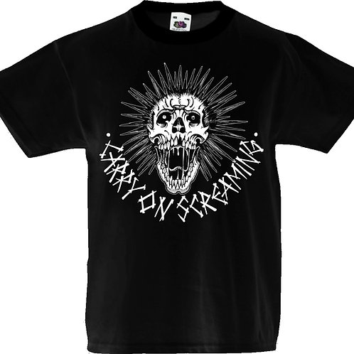 "Kids T-shirt Carry on Screaming ""Skull"""