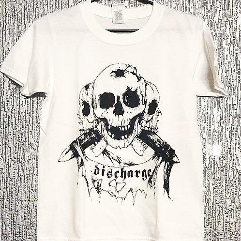 "Kids T-shirt Discharge ""Skulls"" in white"