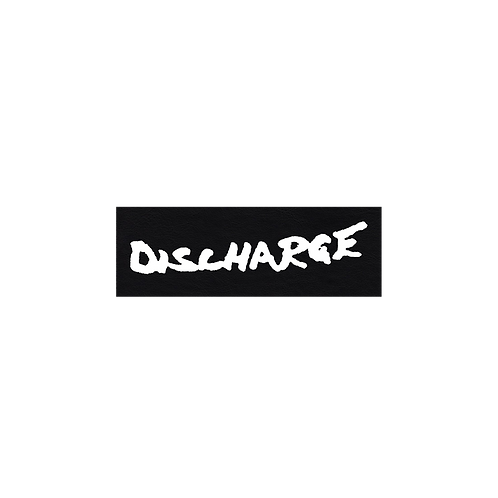 "DISCHARGE Fake Leather ""Shoulder"" Patch"