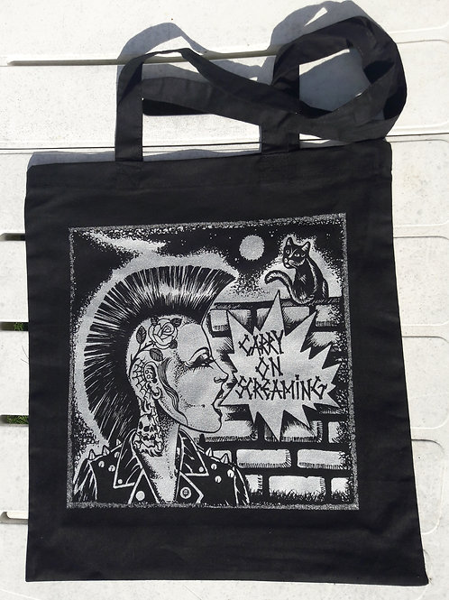 TOTE BAG Carry on Screaming 'Mohican Girl'