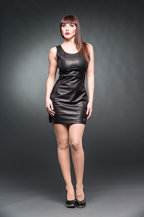 MINI DRESS IN FAUX LEATHER