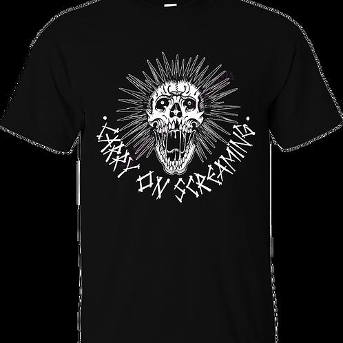 """T-Shirt CARRY ON SCREAMING """"Skull"""""""