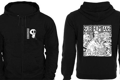 Zip hoodie SUBHUMANS 'Evolution'