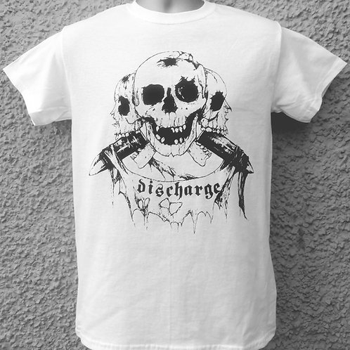 "T-Shirt DISCHARGE ""Original 3 Skulls"""