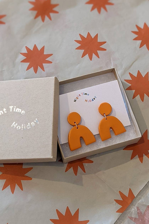 Tangerine Signature Arch Earrings