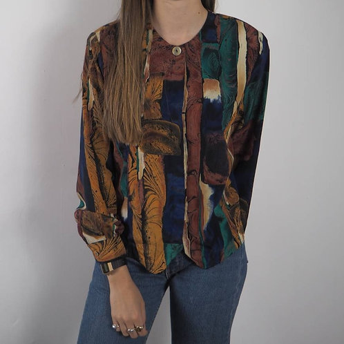 Vintage Abstract Studio Shirt - 12-14UK
