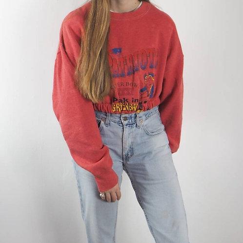 Vintage Superbowl Crop Sweatshirt 8-14UK