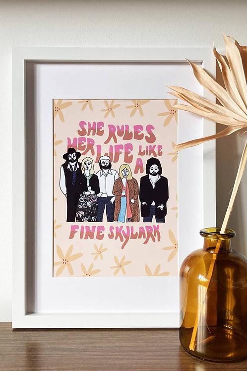 Fleetwood Mac A4 Print