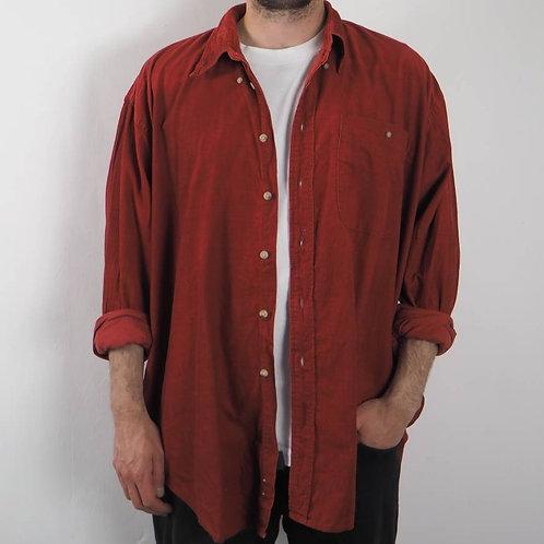 Vintage Red Corduroy Shirt - XL