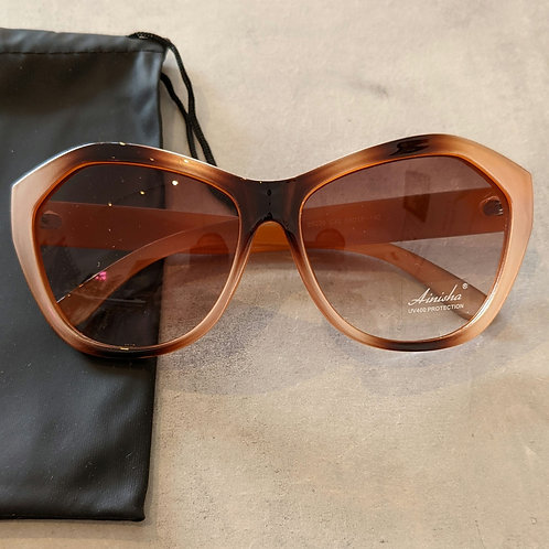 Brown and Pink Large Sunglasses