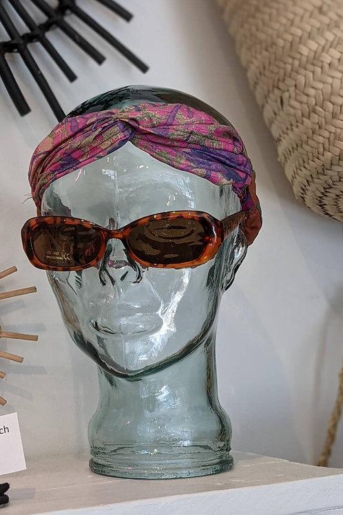 Vintage Sari Twist Headband