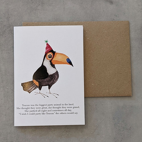 Party Toucan Card