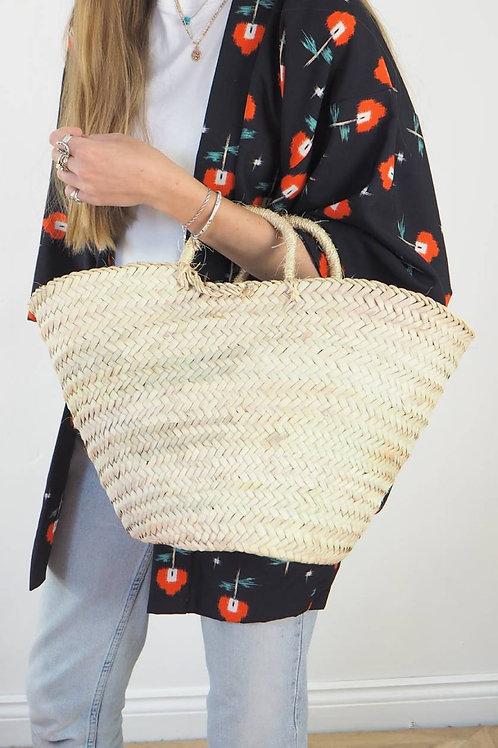 Small Sisal Handle Basket Bag