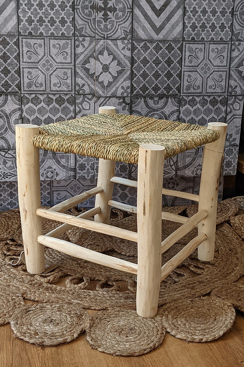 Moroccan Rustic Wooden Stool
