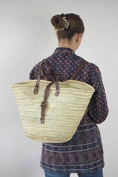 Moroccan Buckle Basket Backpack Bag
