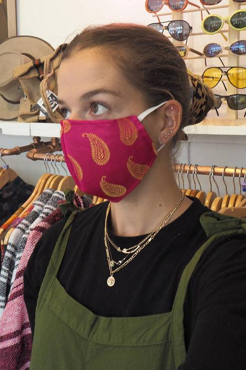 Fair trade Recycled Sari Face Mask