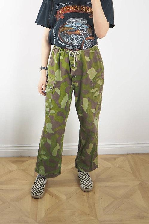 Vintage Camo Finnish Trousers - 14-16UK
