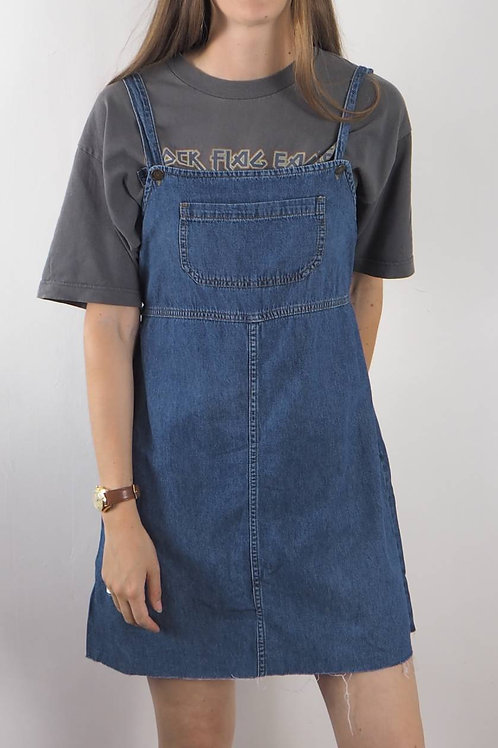 Vintage Denim Pinafore Dress - 8-10UK