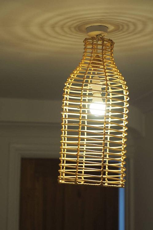 Large Bottle Rattan Wicker Light Shade