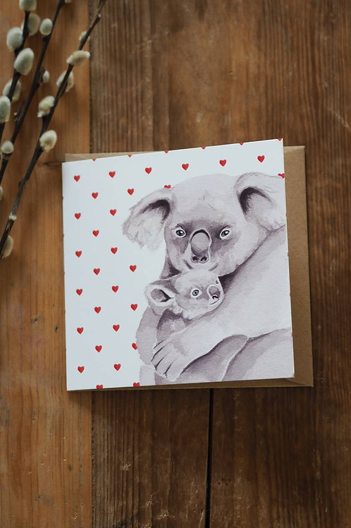 Koala And Baby Card