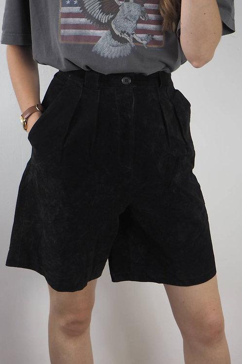 Vintage Black Suede Shorts - 8UK
