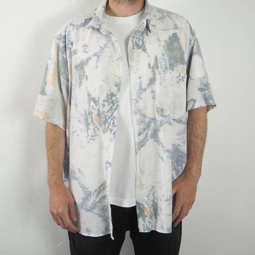 Vintage Green Watercolour 90's Shirt -XL