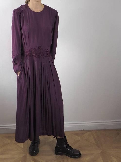 Vintage Purple Maxi Dress - 14-16UK
