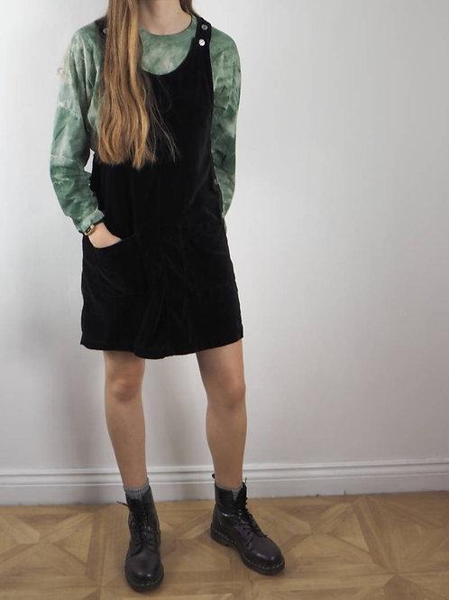 Vintage Velvet Pinafore Dress - M