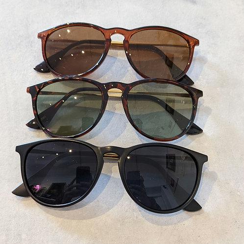 Gold Arm Square Sunglasses
