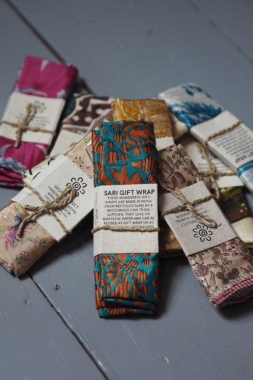 Recycled Sari Gift Wrap