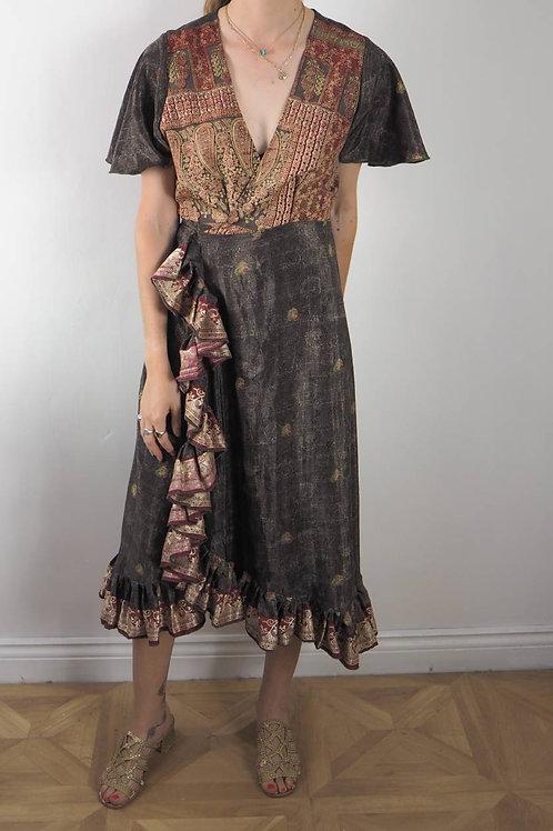 Re-Sari Wrap Dress 13 - 8-12UK