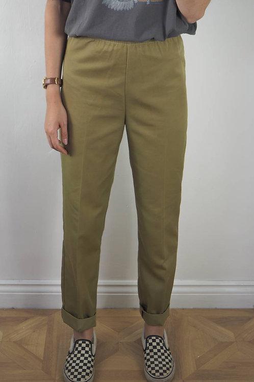 Vintage Tailored Khaki Trousers - 8UK