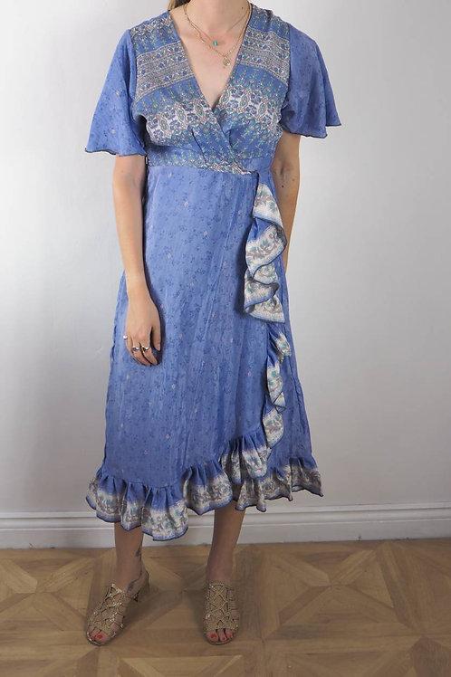 Re-Sari Wrap Dress 12 - 8-12UK