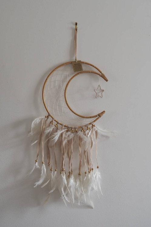 Crescent Moon Rattan Dreamcatcher