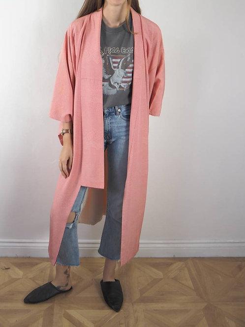 Vintage Pink Print Kimono - 8-18UK
