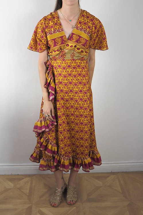 Re-Sari Wrap Dress 08 - 8-12UK