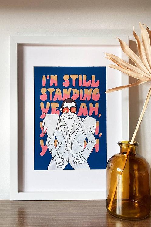 Elton John A4 Print