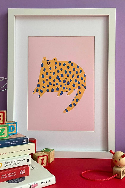Dotty Cat A4 Print
