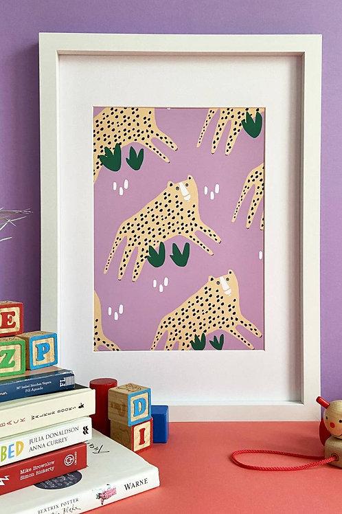 Leopards A4 Print