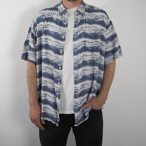 Vintage Abstract Wave Shirt - XL