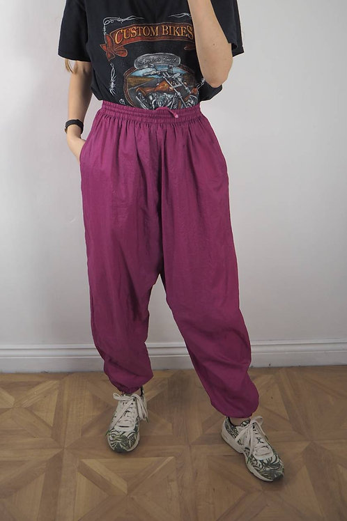 Vintage Pink Shell Tracksuit Bottoms - XL