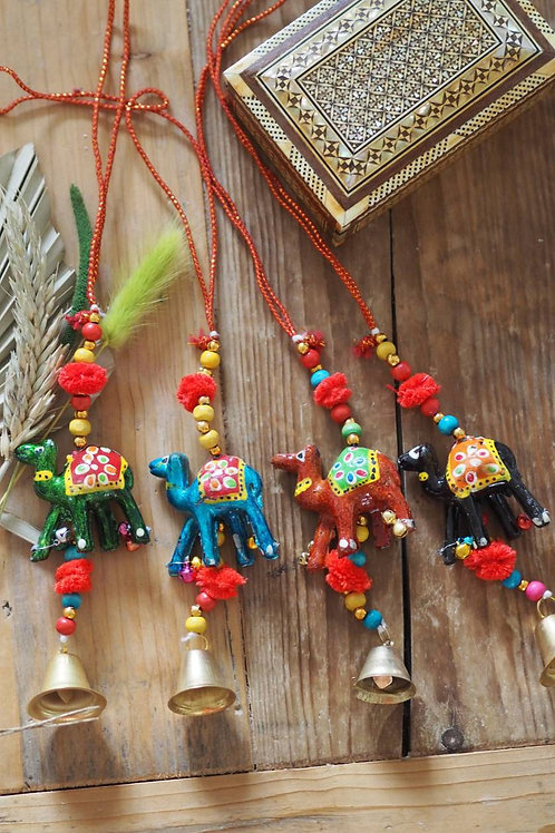 Hanging Camel and Bell Decoration