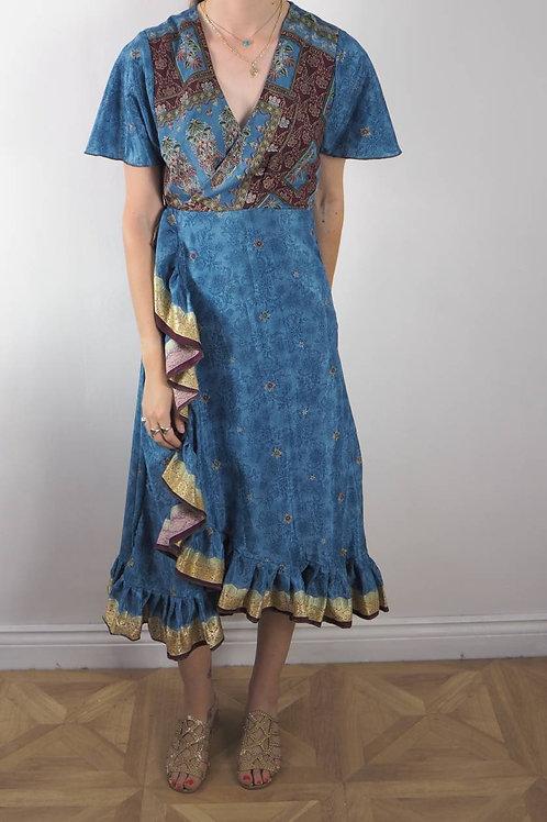 Re-Sari Wrap Dress 05 - 8-12UK