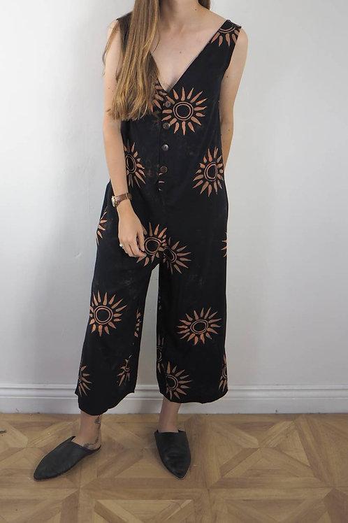 Fair Trade Sun Print Jumpsuit