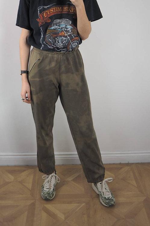 Vintage Khaki Subtle Bleach Joggers - M