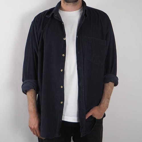 Vintage Navy Corduroy Shirt - L
