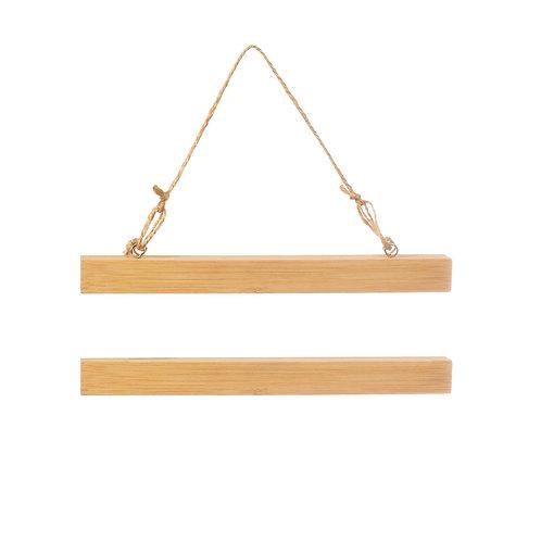 Bamboo Mini Magnetic Poster Hanger