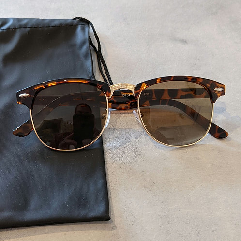 Tortoiseshell and Gold Club Sunglasses